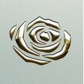 PL 3D ROSES Champagne PF met/Gold